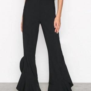 Nly Trend Flowy Wide Pants Housut Musta