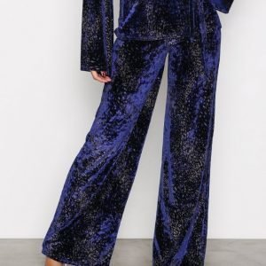 Nly Trend Formation Wide Pants Housut Sininen