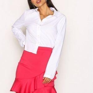 Nly Trend Frill Skirt Midihame Vaaleanpunainen