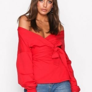 Nly Trend Front And Back Sweat Svetari Punainen