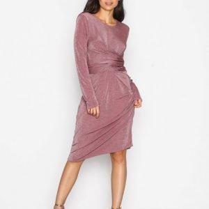 Nly Trend Glamorous Tie Waist Dress Kotelomekko Dark Rose