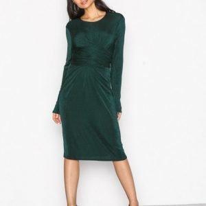 Nly Trend Glamorous Tie Waist Dress Kotelomekko Tummanvihreä