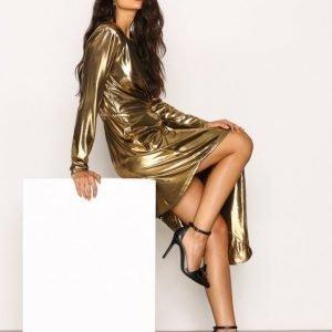 Nly Trend Golden Asymetric Dress Kotelomekko Kulta