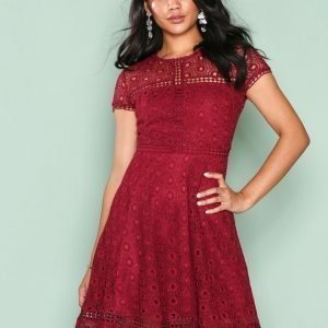 Nly Trend Graduation Dress Skater Mekko Burgundy