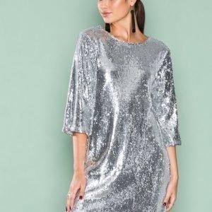 Nly Trend Hang Loose Sequin Dress Paljettimekko Hopea