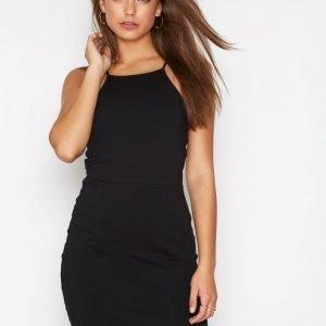 Nly Trend High Neckline Dress Kotelomekko Musta