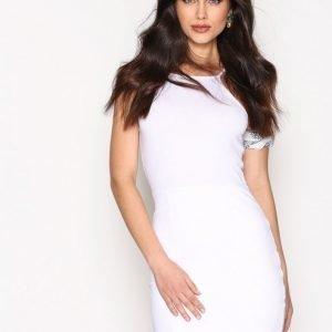 Nly Trend High Neckline Dress Kotelomekko Valkoinen