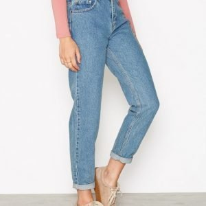 Nly Trend High Waist Vintage Denim Straight Farkut Deniminsininen