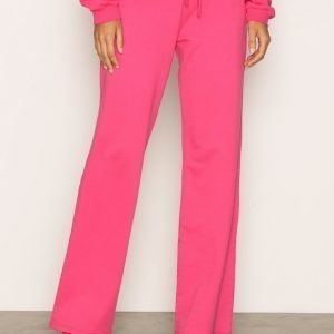 Nly Trend Highwaist Wide Joggers Housut Bright Pink