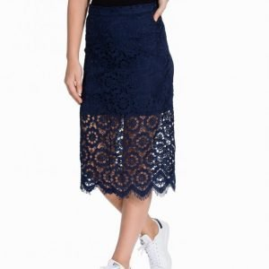 Nly Trend Ignoring Winter Skirt Midihame Sininen