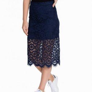 Nly Trend Ignoring Winter Skirt Midihame Sininen