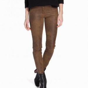Nly Trend Imaginary Pants Housut Ruskea