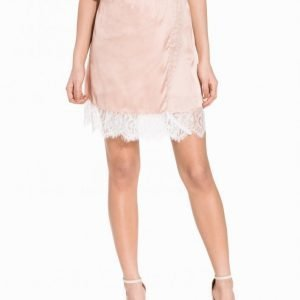 Nly Trend Into The Spotlight Skirt Minihame Vaalea Pinkki