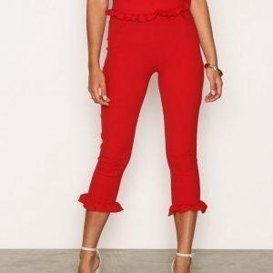 Nly Trend Jersey Frill Pants Housut Lollipop