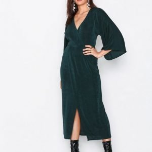 Nly Trend Kimono Wrap Dress Loose Fit Mekko Vihreä