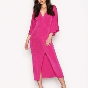 Nly Trend Kimono Wrap Dress Maksimekko Fuchsia