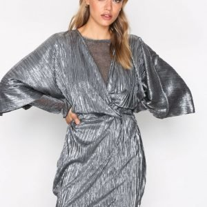 Nly Trend Knot Pleat Metallic Dress Loose Fit Mekko Hopea
