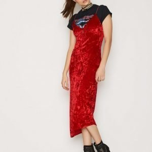 Nly Trend Lady In Red Dress Loose Fit Mekko Punainen