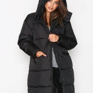 Nly Trend Long Puffer Jacket Untuvatakki Musta