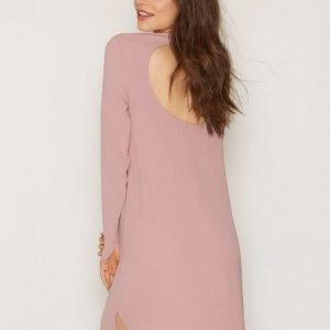 Nly Trend Long Sleeve Shift Dress Pitkähihainen Mekko Vaalea Pinkki