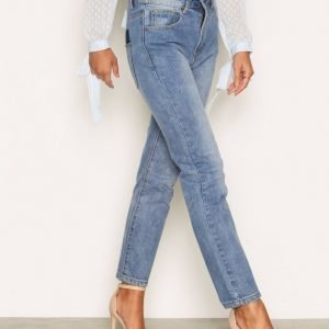 Nly Trend Look Back Denim Straight Farkut Sininen