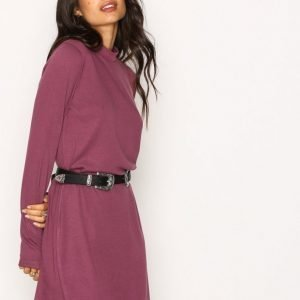 Nly Trend Loose Fit Polo Dress Loose Fit Mekko Violetti