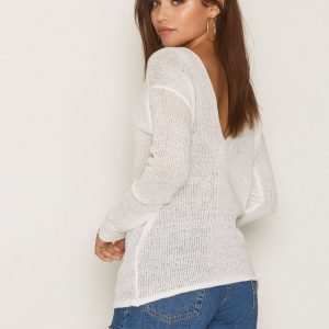 Nly Trend Loose Knit Sweater Neulepusero Creme