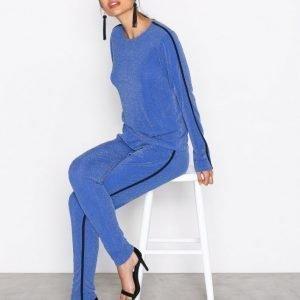 Nly Trend Lurex Sporty Set Jumpsuit Sininen