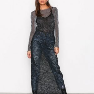 Nly Trend Maxi Sheer Dress Maksimekko Musta