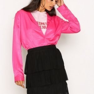 Nly Trend Mesh Flounce Skirt Minihame Musta