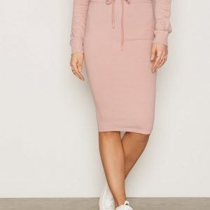 Nly Trend Midi Sweat Skirt Midihame Dusty Pink