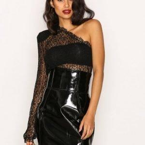 Nly Trend No Stranger Skirt Minihame Musta