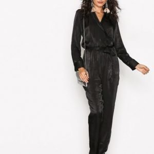 Nly Trend Perfect Wrap Jumpsuit Musta