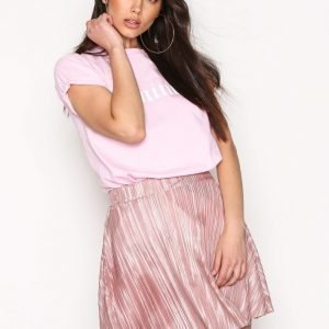 Nly Trend Pleated A Line Skirt Minihame Mauve