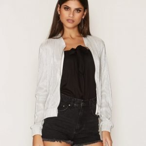 Nly Trend Pleated Bomber Jacket Takki Champagne