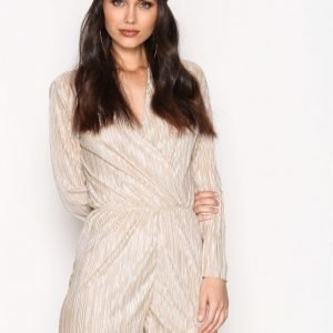 Nly Trend Pleated Playsuit Champagne