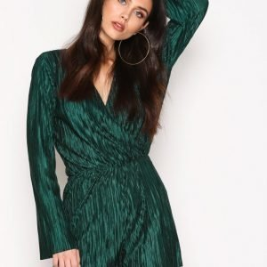 Nly Trend Pleated Playsuit Vihreä
