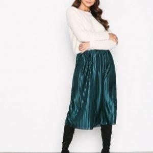 Nly Trend Pleated Skirt Midihame Emerald Green