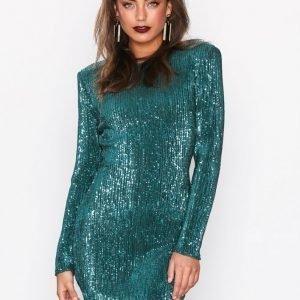 Nly Trend Power Sequin Dress Paljettimekko Vihreä
