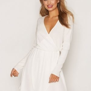 Nly Trend Pretty Pleats Dress Pitkähihainen Mekko Valkoinen