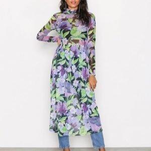 Nly Trend Print Mesh Dress Pitkähihainen Mekko Kukkainen