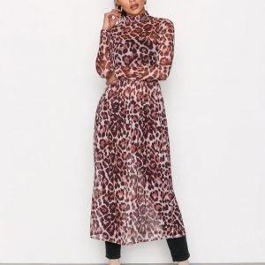 Nly Trend Print Mesh Dress Pitkähihainen Mekko Leo