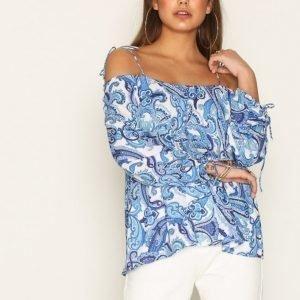 Nly Trend Print Off Shoulder Blouse Arkipaita Print