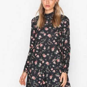 Nly Trend Print Swing Dress Loose Fit Mekko Musta / Kuviollinen