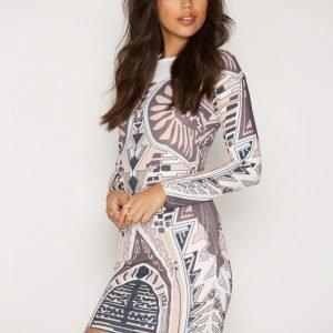 Nly Trend Printed Round Neck Dress Kotelomekko Multi