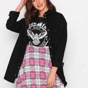 Nly Trend Printed Skater Skirt Midihame Vaaleanpunakuviollinen
