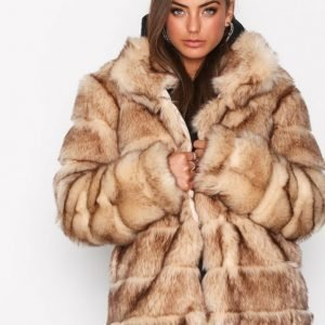 Nly Trend Puffy Fur Coat Tekoturkki Beige