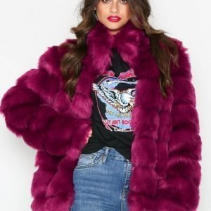 Nly Trend Puffy Fur Coat Tekoturkki Fuchsia