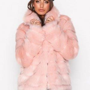 Nly Trend Puffy Fur Coat Tekoturkki Vaaleanpunainen
