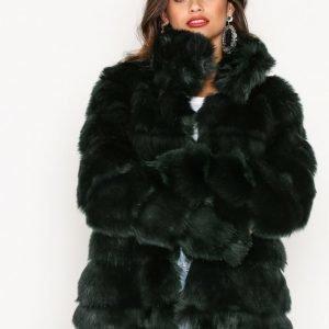 Nly Trend Puffy Fur Coat Tekoturkki Vihreä